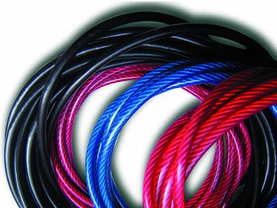 包胶钢丝绳_涂塑钢丝绳